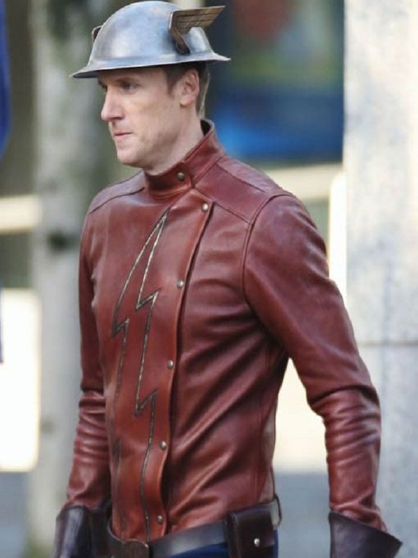 The Flash Teddy Sears Jay Garrick Leather Jacket