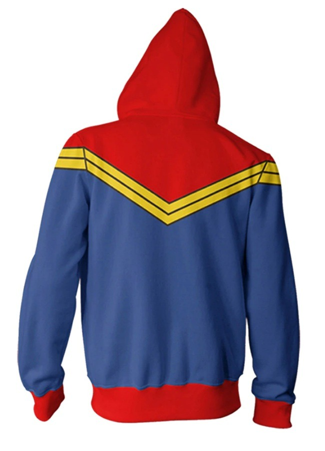 Avengers Endgame Captain Marvel Cosplay Hoodie