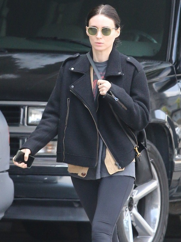 Rooney Mara Elegant Design Wool Jacket