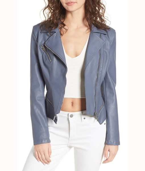 Arrow Felicity Smoke Grey Leather Jacket
