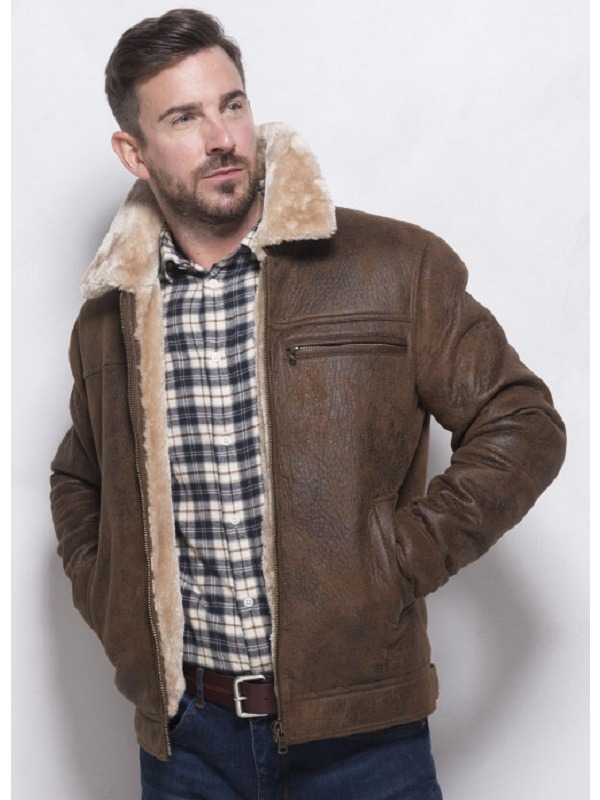Aviator Shearling Comfort Sheepskin Leather Jacket