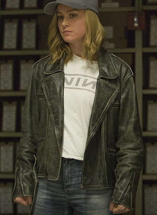 Captain Marvel Carol Danvers Brie Larson Leather Jacket