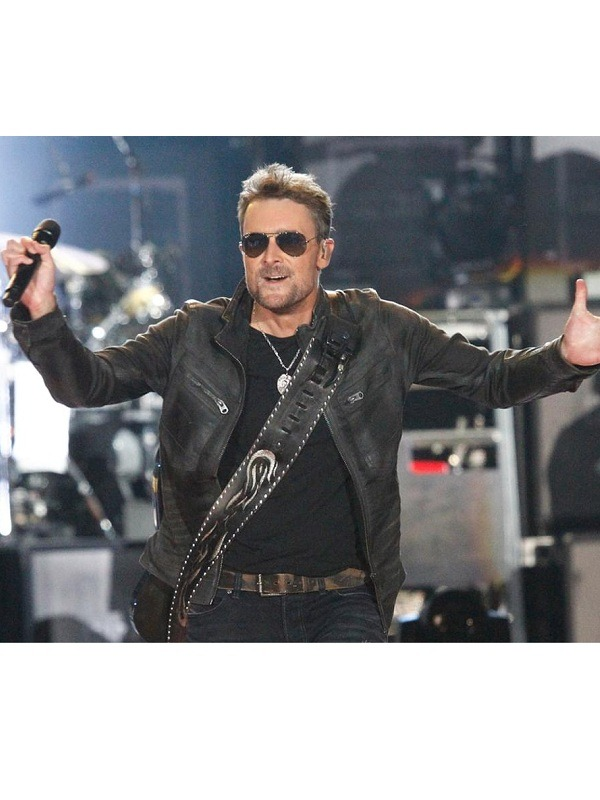 Country Singer Eric Church Leather Jacket