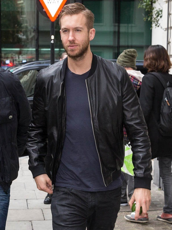 DJ Calvin Harris Leather Jacket