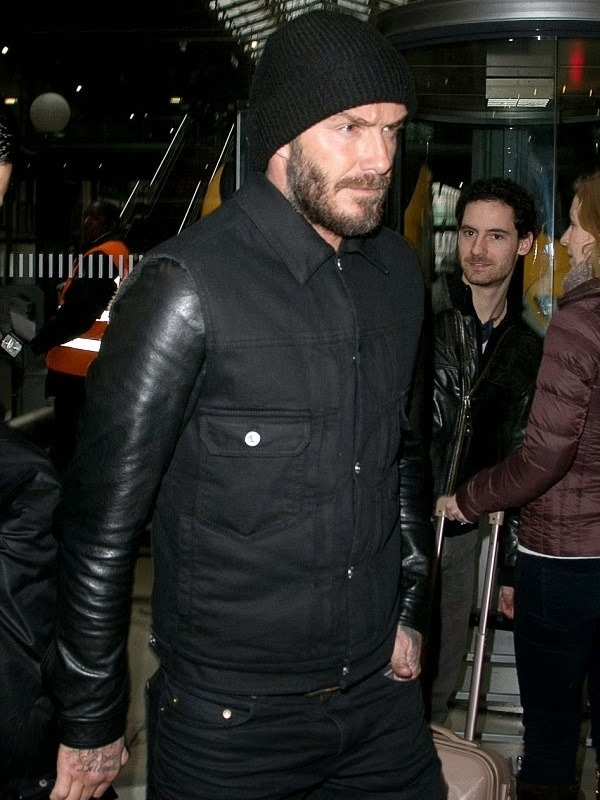 Footballer David Beckham Denim Jacket
