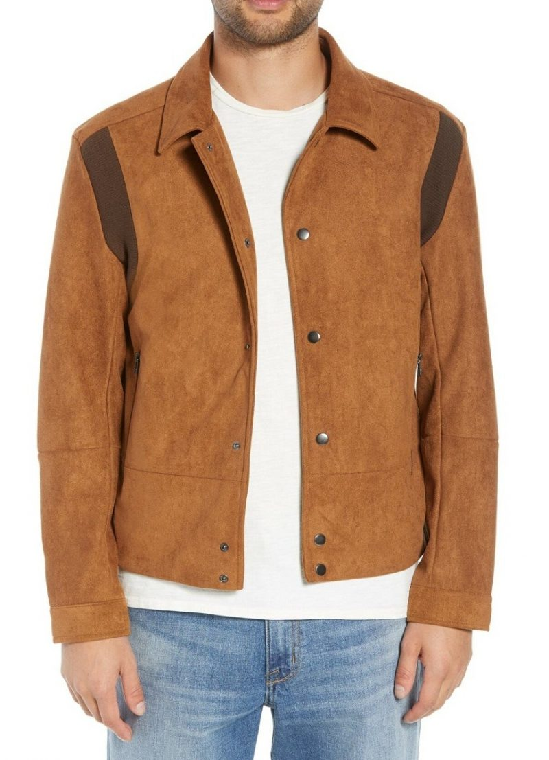 Men Urban Style Faux Suede Leather Jacket