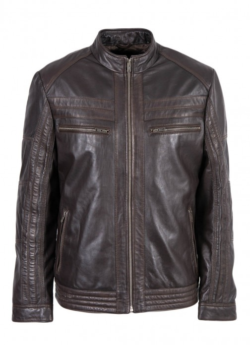 Men's Classic Casual Leather Jacket