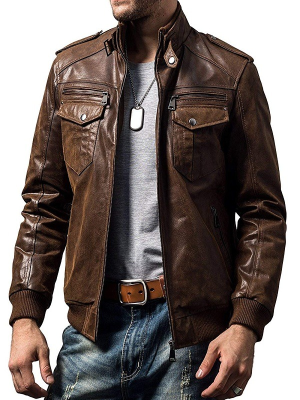 Men's Retro Motorcycle Leather Jacket