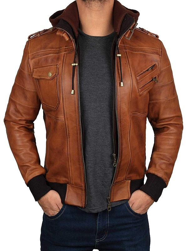 Men's Slim fit Removable Hooded Jacket