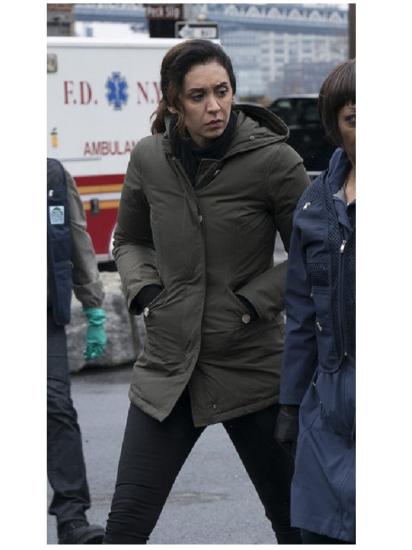 The Blacklist Samar Navabi Mozhan Marnò Hooded Coat