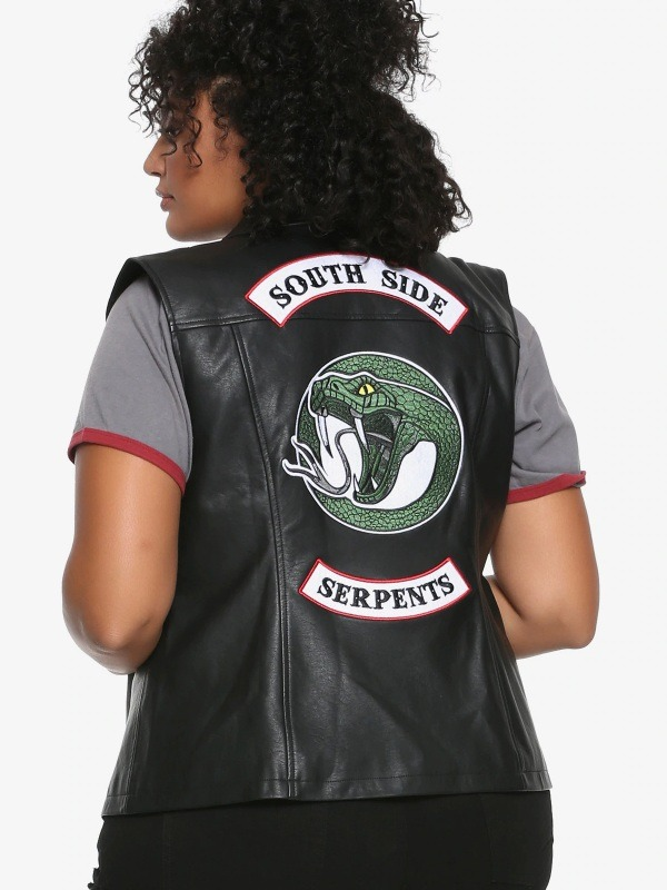 Riverdale South Side Serpents Studded Leather Vest