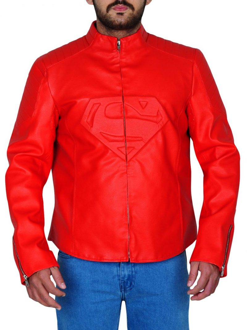 Smallville Superman Red Leather Jacket,