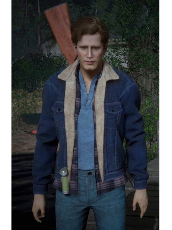 Tommy Jarvis Friday The 13th Denim Fur Jacket