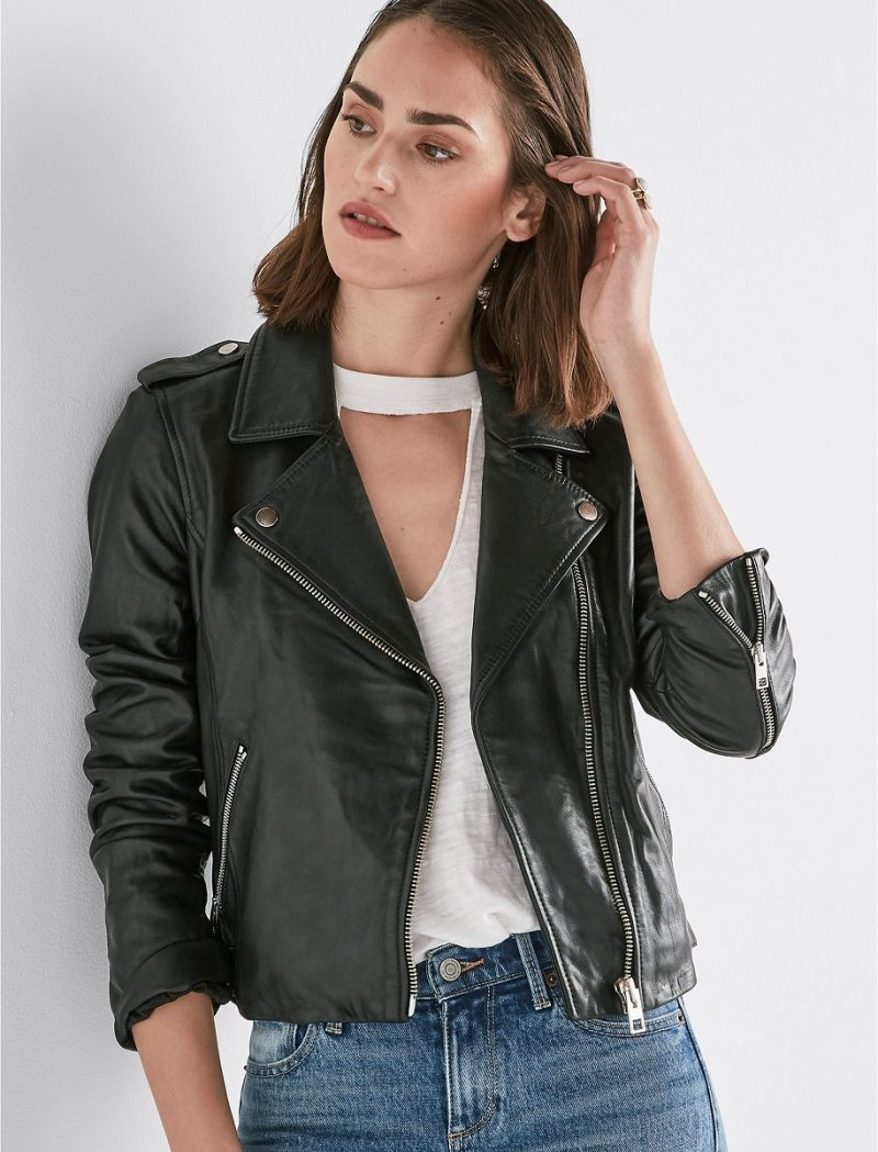 Women's Formal Wear Motorbiker Leather Jacket