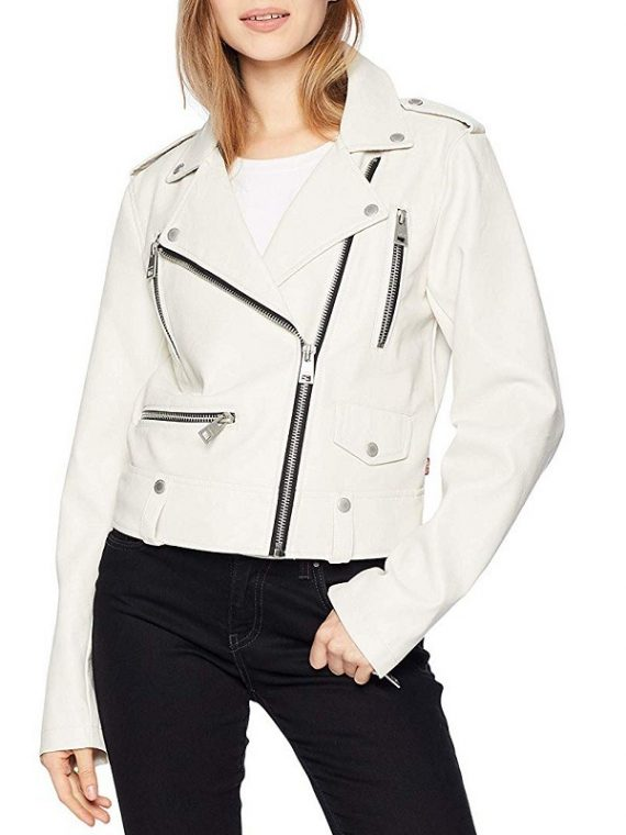 Women's Asymmetrical Style Motorcycle Leather Jacket