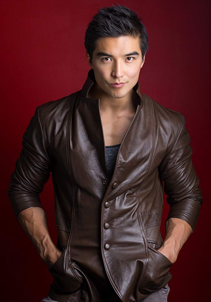 Actor and Model Ludi Lin Brown Leather Jacket