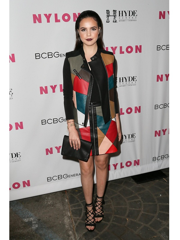 American Actress Bailee Madison Malang Leather Vest