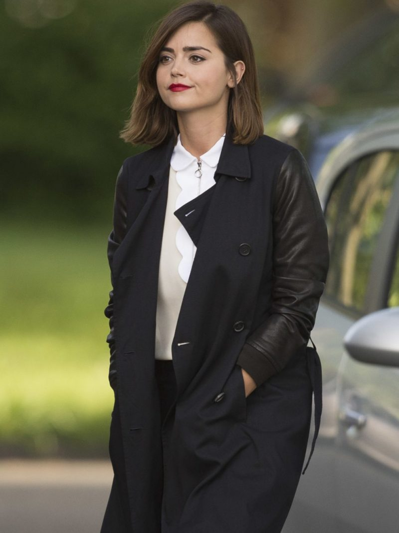 Clara Oswald Doctor Who Double Breasted Coat,