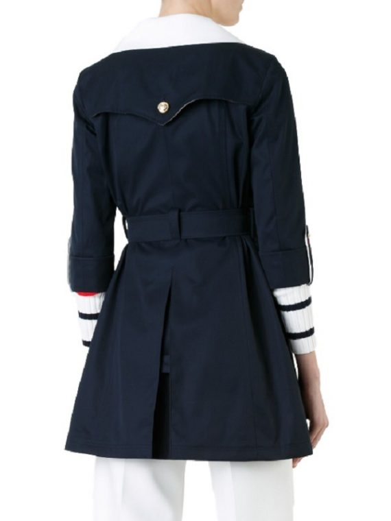 Elegant Double Breasted Women Trench Coat,