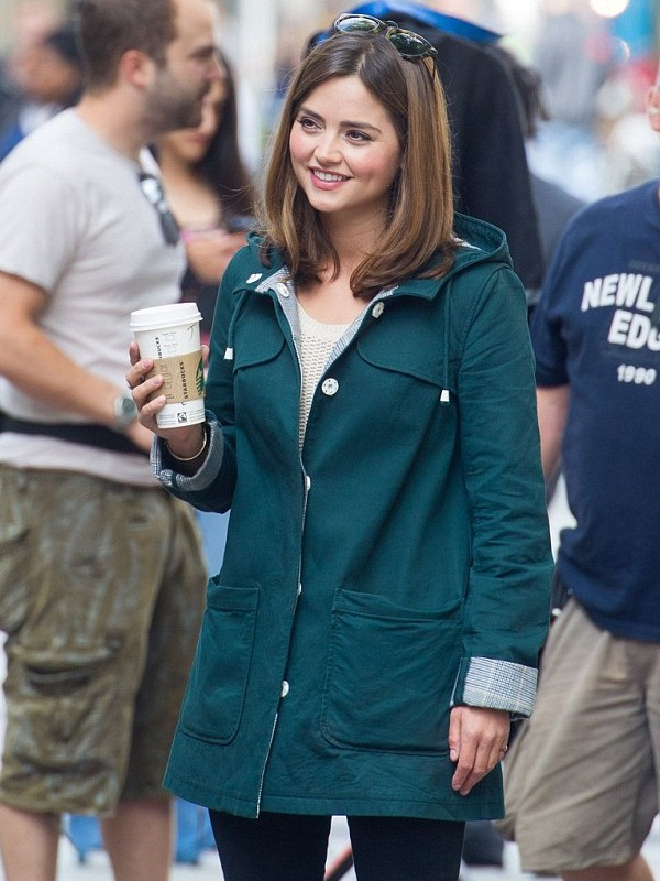 Jenna Coleman Doctor Who Green Coat,