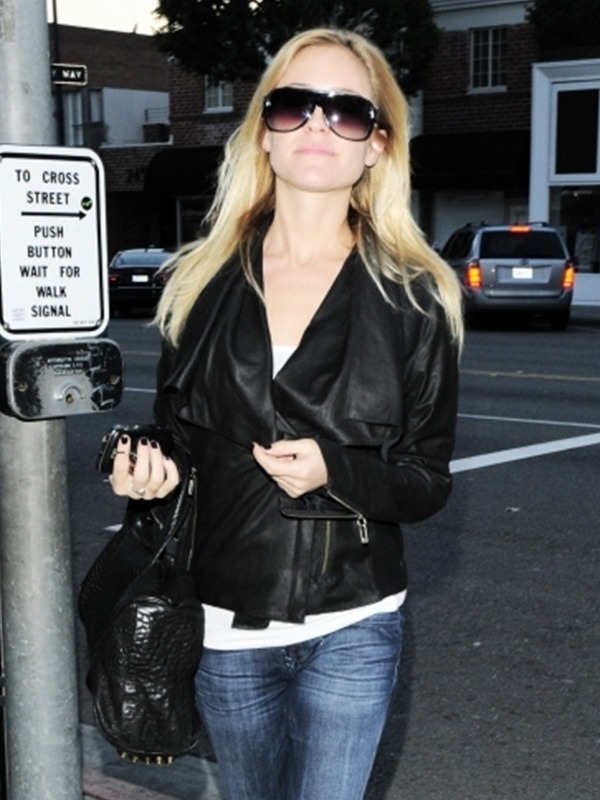 Kristin Cavallari Asymmetrical Leather Jacket,