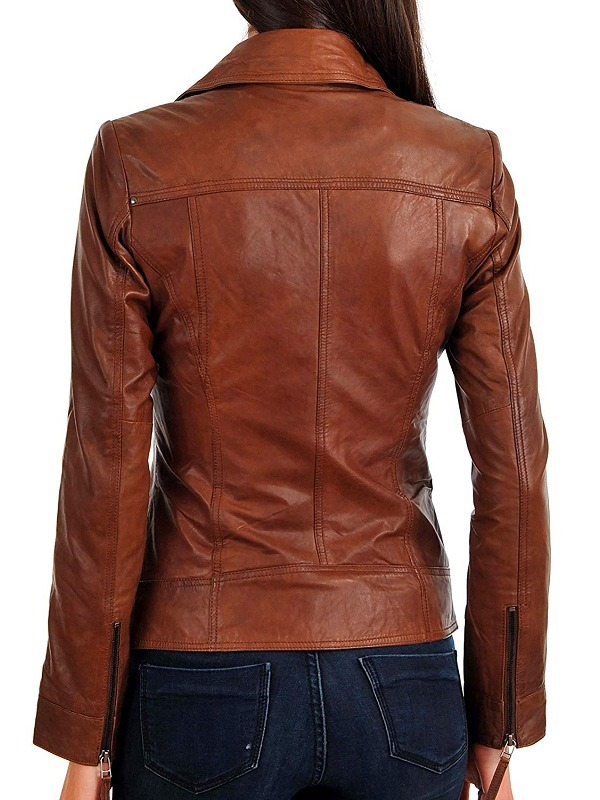 Women Motorcycling Leather Jacket