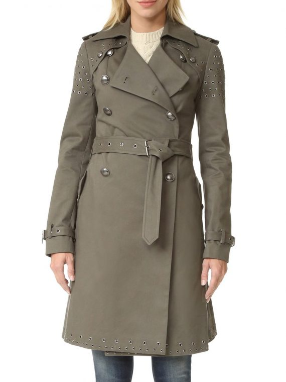 The Perfectionists Janel Parrish Trench Coat,