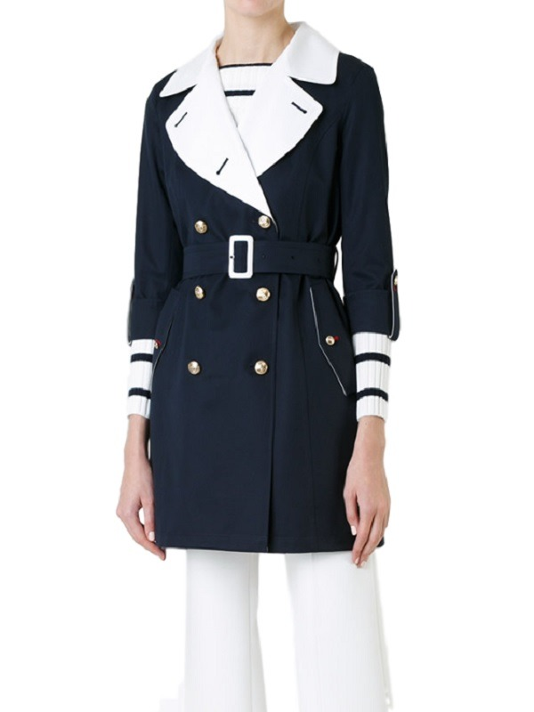 Women Elegant Double Breasted Long Coat,
