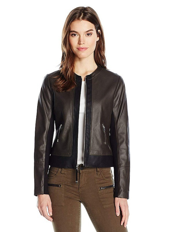 Ladies Casual Exclusive Appealing Collarless Jacket