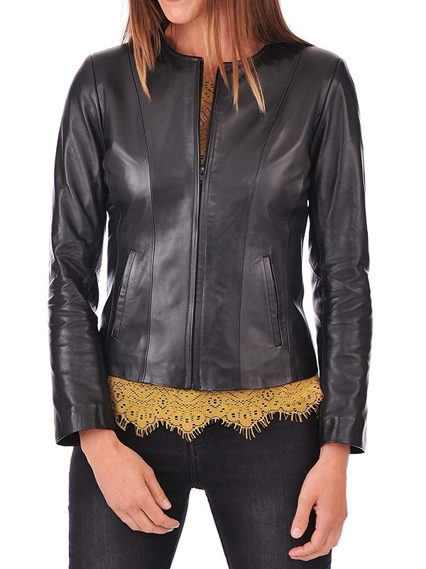 Women luxurious Moto Leather Jacket