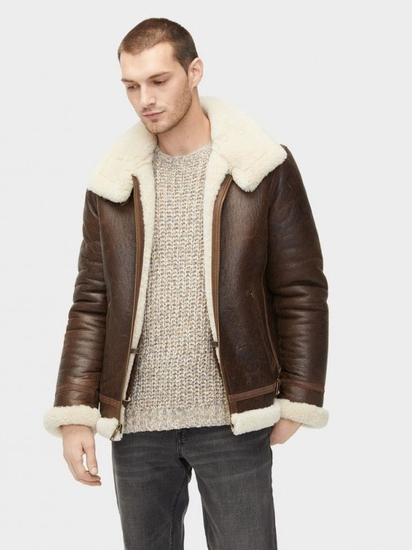 men's shearling aviator jacket
