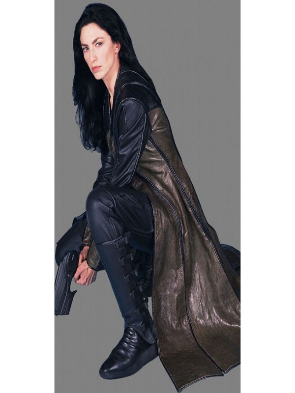 Actress Claudia Black in Farscape Coat