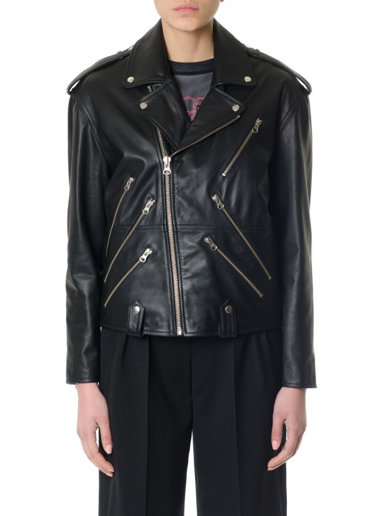 Biker Queen Zipped Leather Jacket