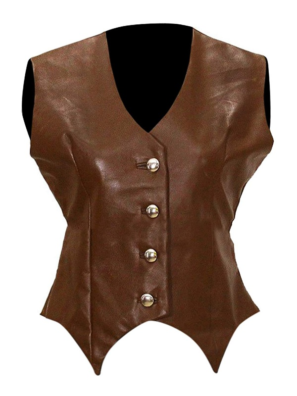 Singer Jessica Simpson Leather Vest