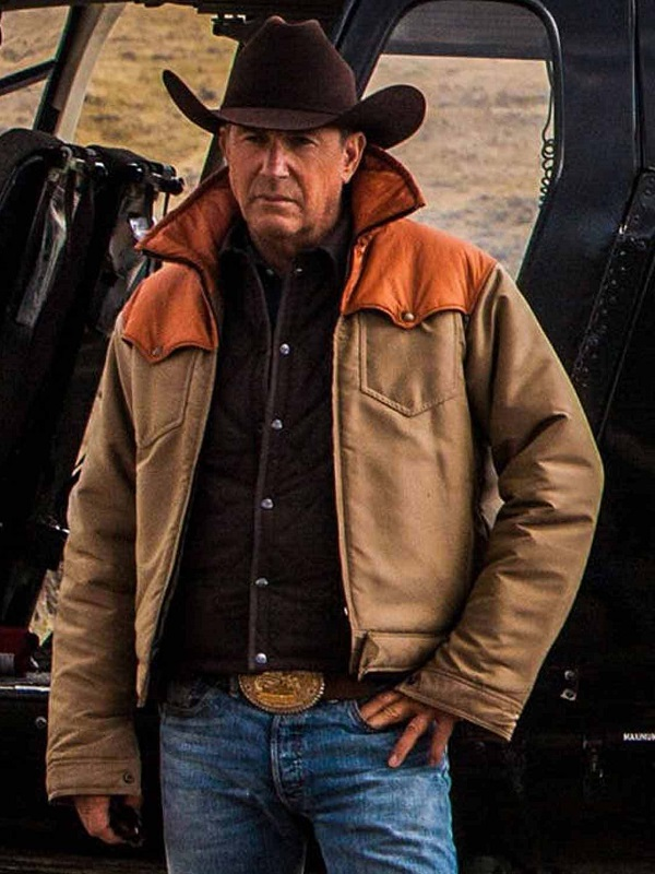 TV Series Yellowstone John Dutton Kevin Costner Jacket/