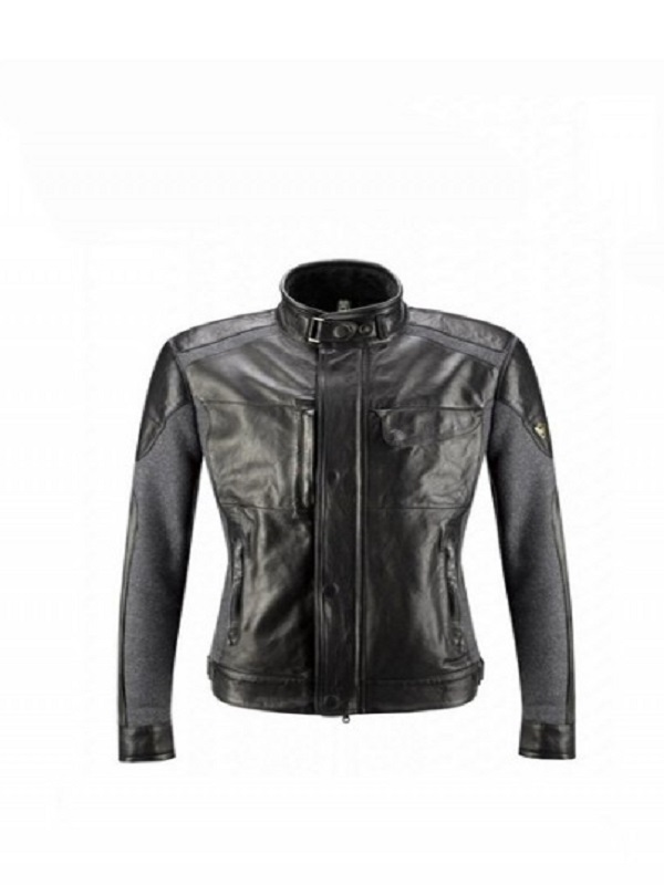 Model David Gandy Black Fashion Leather Jacket