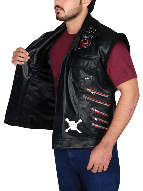 WWE Wrestler Thomas Pestock Baron Corbin Leather Vest