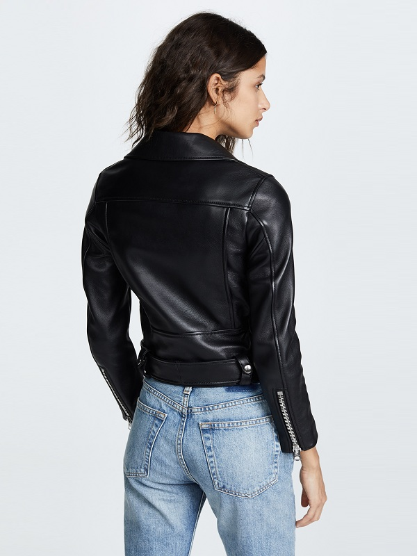 Women's Moto Biker Leather Jacket