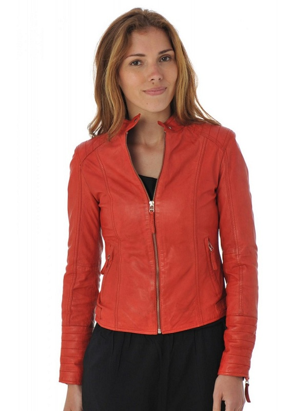Women Elegant Style Leather Jacket