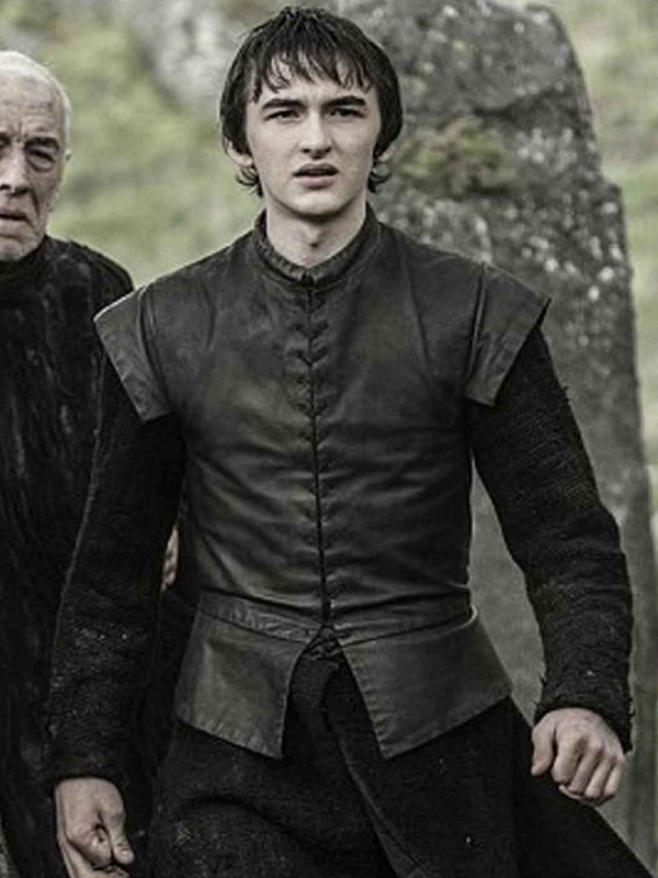 Isaac Hempstead Wright Game of Thrones Bran Stark Black Leather Vest