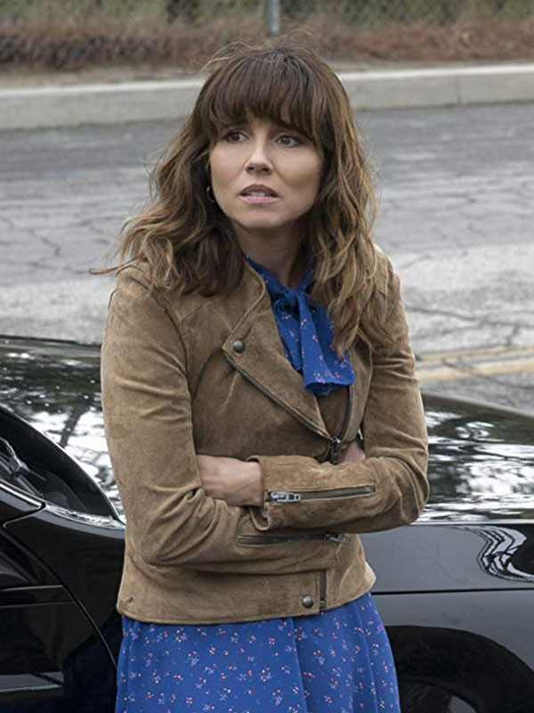 Linda Cardellini Dead to Me Suede Leather Jacket