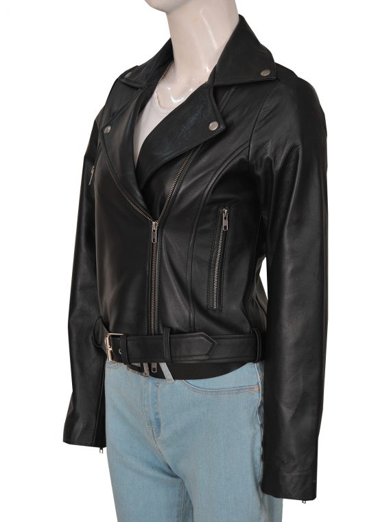 Women Cry Baby Leather Jacket.