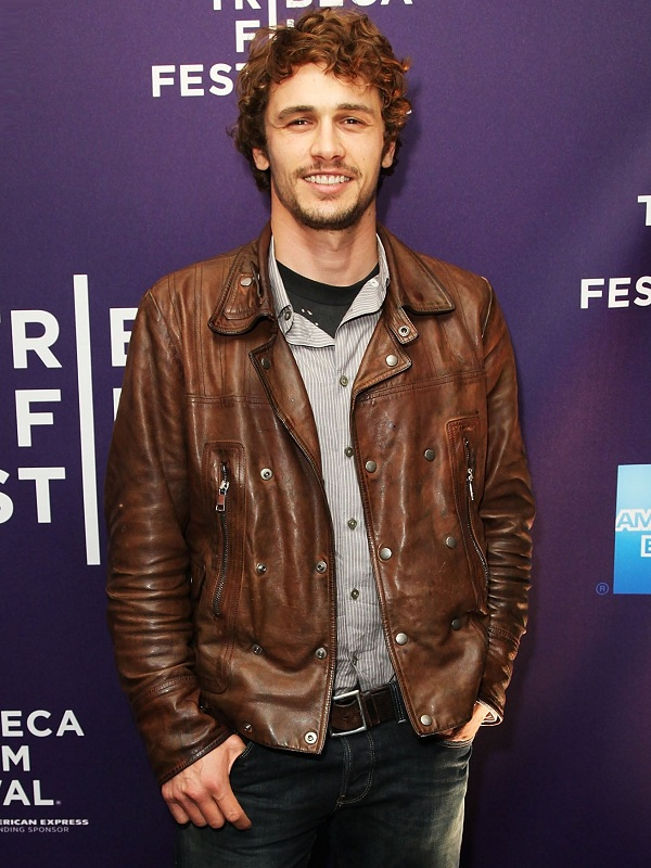James Franco Biker Style Leather Jacket for Men