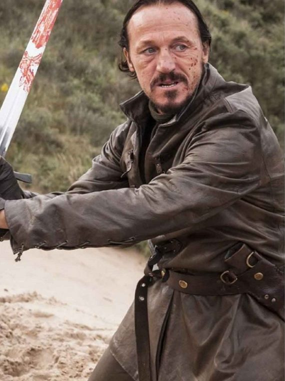 Jerome Flynn Game of Thrones Bronn Leather Jacket