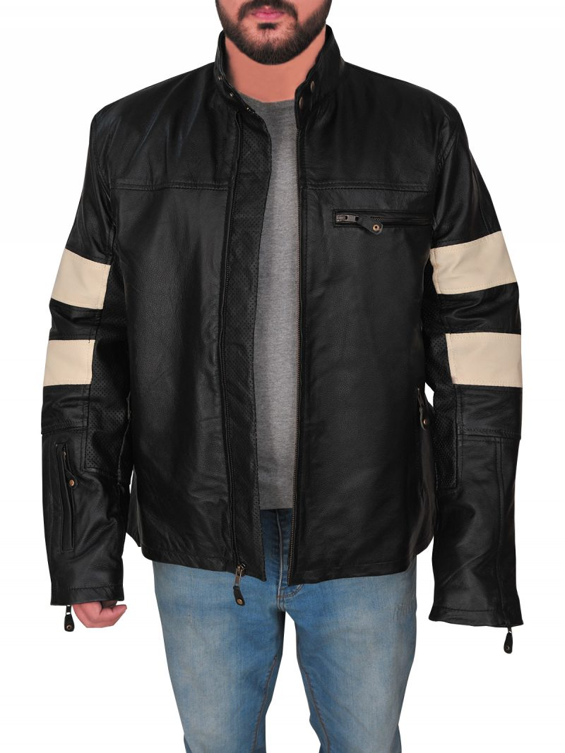Keanu Reeves Biker Style Leather Jacket