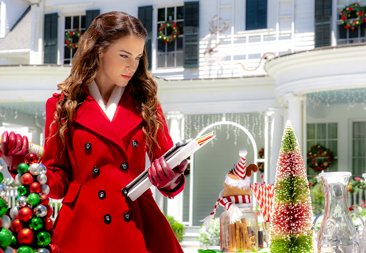 Manor Jessica Lowndes red coat For Women