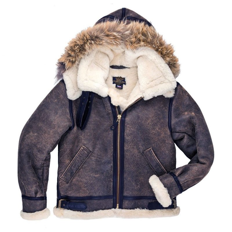 B3 Bomber Jacket Sheepskin Shearling Leather
