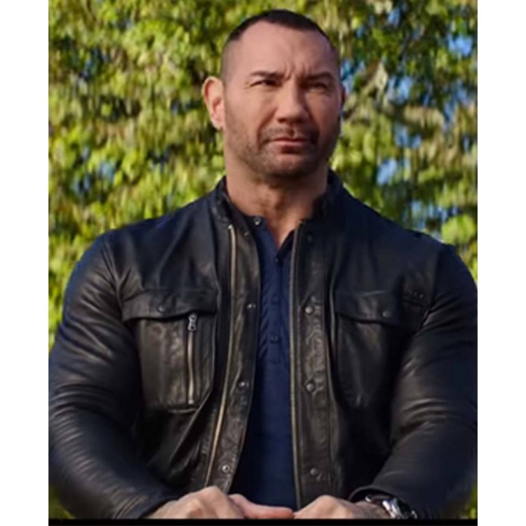 My Spy Dave Bautista Leather Jacket