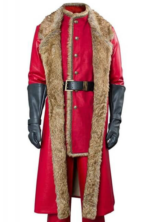 Christmas Santa Claus Chronicles Leather Coat