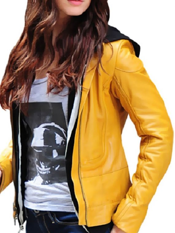 Women Yellow Ninja Turtles Reboot Megan Fox Leather Jacket